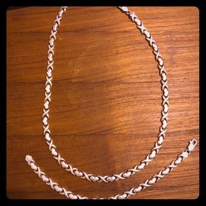 Jewelry - Sterling Silver Necklace and Bracelet Duo